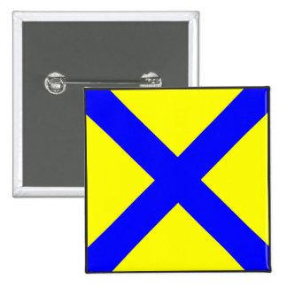 maritime alphabet signal flag number five 5 letter button