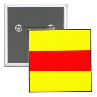 maritime alphabet signal flag number two 2 letter pinback button
