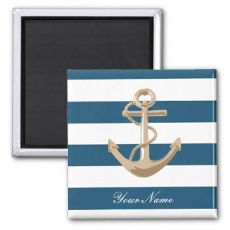 Maritime and Nautical with Anchor - Magnet