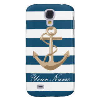 Maritime and Nautical with Anchor - Samsung Samsung Galaxy S4 Case