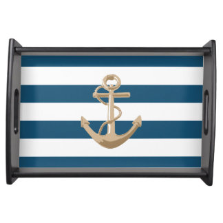 Maritime and Nautical with Anchor - Serving Tray