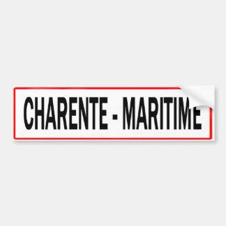 MARITIME CHARENTE PANELS BUMPER STICKER