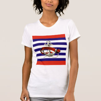 Maritime Chic Ladies Spagetti Fitted Top