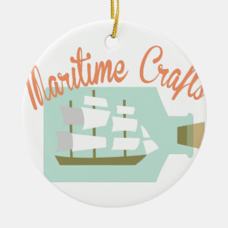 Maritime Crafts Ceramic Ornament