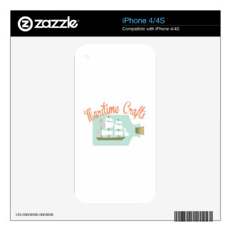 Maritime Crafts Decals For iPhone 4S
