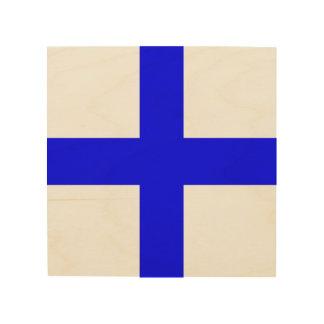 "Maritime Flag Letter X ""Xray"" Wood Print"