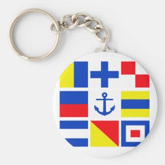 Maritime flags key chain
