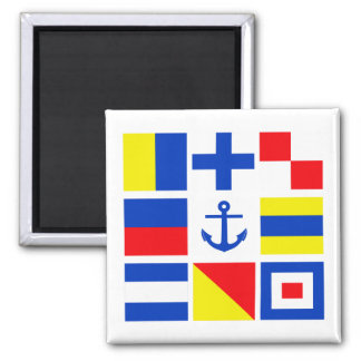 Maritime flags magnet