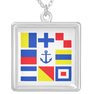 Maritime flags necklace