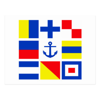 Maritime flags postcard - customize!