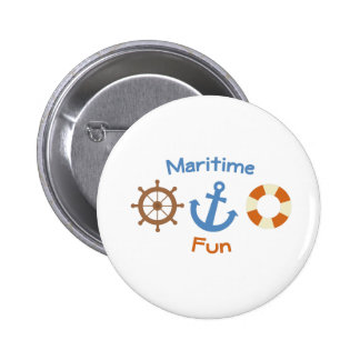Maritime Fun Pinback Buttons