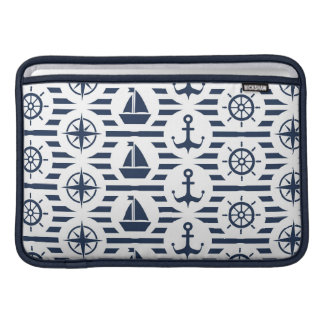 Maritime In Blue Pattern Sleeves For MacBook Air