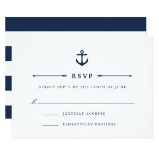 Maritime | Nautical Anchor RSVP Card