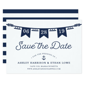 Maritime | Nautical Flags Save the Date Card