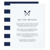 Maritime | Nautical Monogram Wedding Guest Details Card
