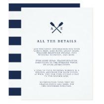 Maritime   Nautical Monogram Wedding Guest Details Invitation
