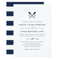 Maritime | Nautical Monogram Wedding Invitation