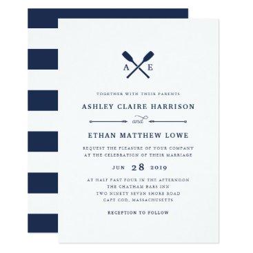 RedwoodAndVine Maritime | Nautical Monogram Wedding Invitation