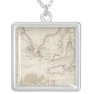 Maritime Portion of South Australia Silver Plated Necklace