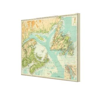 Maritime Provinces & Newfoundland Canvas Print