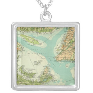 Maritime Provinces & Newfoundland Square Pendant Necklace