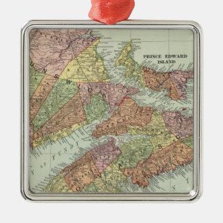 Maritime Provinces of Canada Metal Ornament