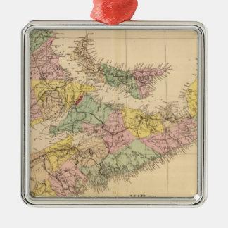 Maritime Provinces Square Metal Christmas Ornament