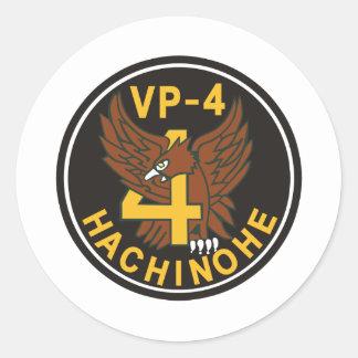 Maritime Self Defense Force 4th air force unit pat Classic Round Sticker