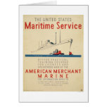 Maritime Service - Large Ship with Tugboats - WPA