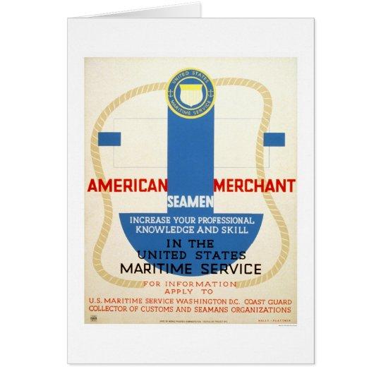 Maritime Service Recruiting Poster - WPA Card