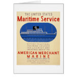 Maritime Service - Side View of Ship - WPA Card