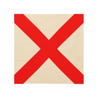 """Maritime Signal Flag Letter V """"Victor"""" Wood Print"""