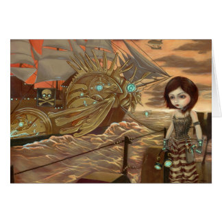 """Maritime Sunset"" Greeting Card"