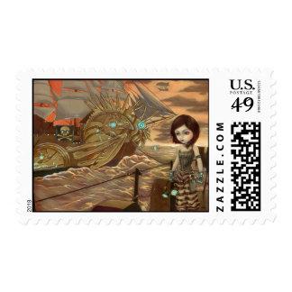 """Maritime Sunset"" Stamp"