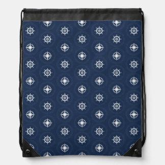 Maritime Tool Pattern Drawstring Backpack