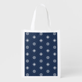 Maritime Tool Pattern Reusable Grocery Bag