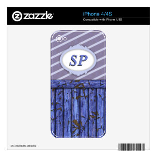 Maritime Wall - Blue iPhone 4 Decals