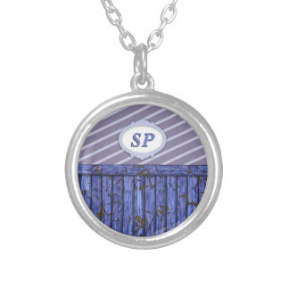Maritime Wall - Blue Silver Plated Necklace
