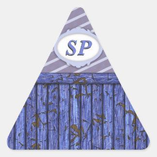 Maritime Wall - Blue Triangle Sticker