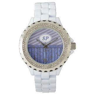 Maritime Wall - Blue Wristwatch