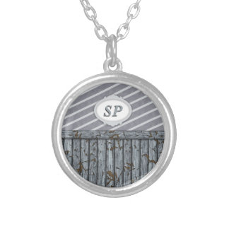 Maritime Wall - Grey Silver Plated Necklace