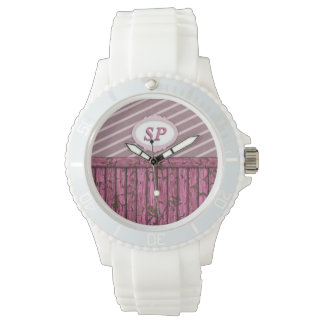 Maritime Wall - Pink Wrist Watches