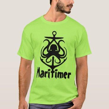 Beach Themed Maritimer Anchor octopus Nautical Lighthouse Route T-Shirt