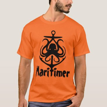 Beach Themed Maritimer Anchor octopus Nautical Lighthouse Route T-Shirt