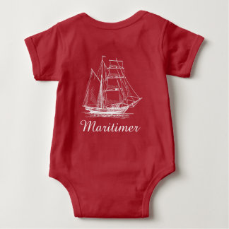 Maritimer nautical sailing ship boat baby shirt