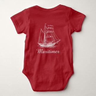 Maritimer nautical sailing ship boat baby shirt