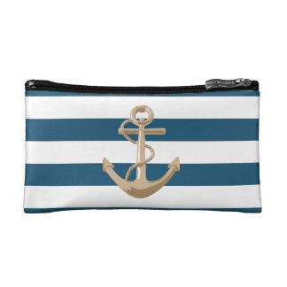 Marítimo y náutico con el ancla - bolso cosmético