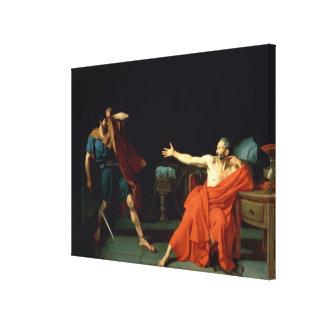 Marius at Minturnae, 1786 (oil on canvas) Canvas Print