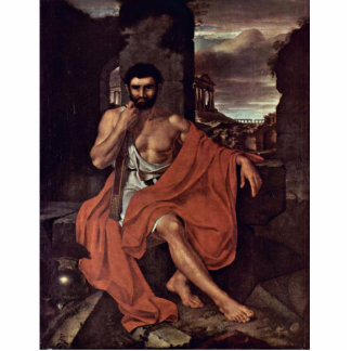 Marius Meditates en las ruinas de Cartago por Vand Fotoescultura Vertical
