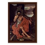 Marius Meditates en las ruinas de Cartago por Vand Tarjeton